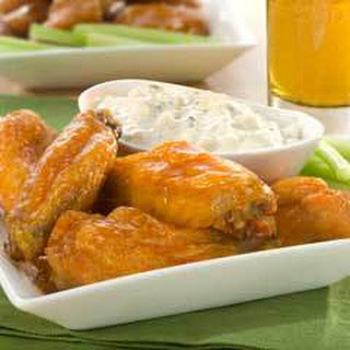 Easy Spicy Wings With  Chunky Blue Cheese.