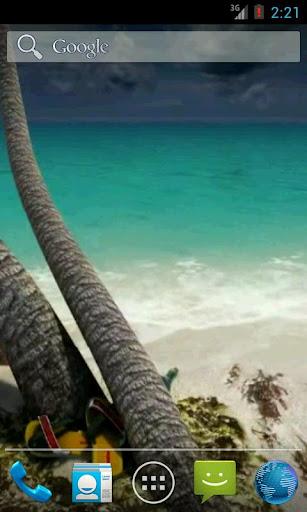 Sandy Beach 3D. Live wallpaper