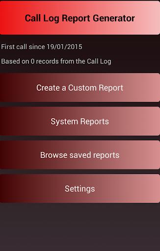Call Log Report Generator