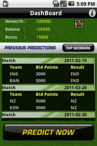 CricPredict - screenshot