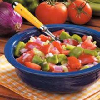 Green Pepper Tomato Salad.