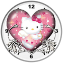 Hello Kitty Heart Analog Clock icon