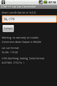 UTM to Lat Lon Conversion screenshot 1