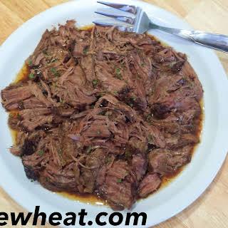 Really Freaking Good Slow Cooker Balsamic Umami Roast Beef.