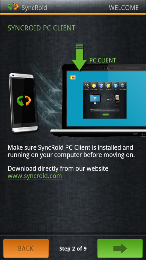 SyncRoid - Outlook Sync Lite - screenshot