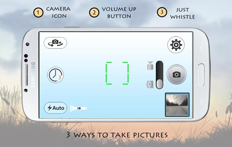 Whistle Camera - Selfie & More- screenshot