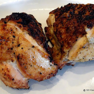 Spicy Garlic Grilled Bone-in Skin-on (Split) Chicken Breast