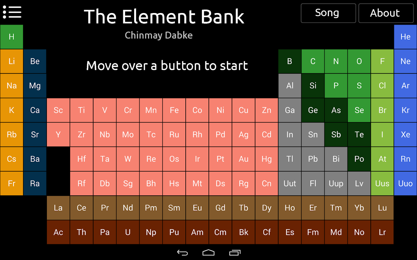 Element Bank : Periodic Table - screenshot