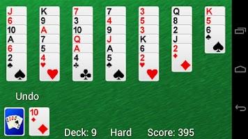 Screenshot of Solitaire Golf Pro