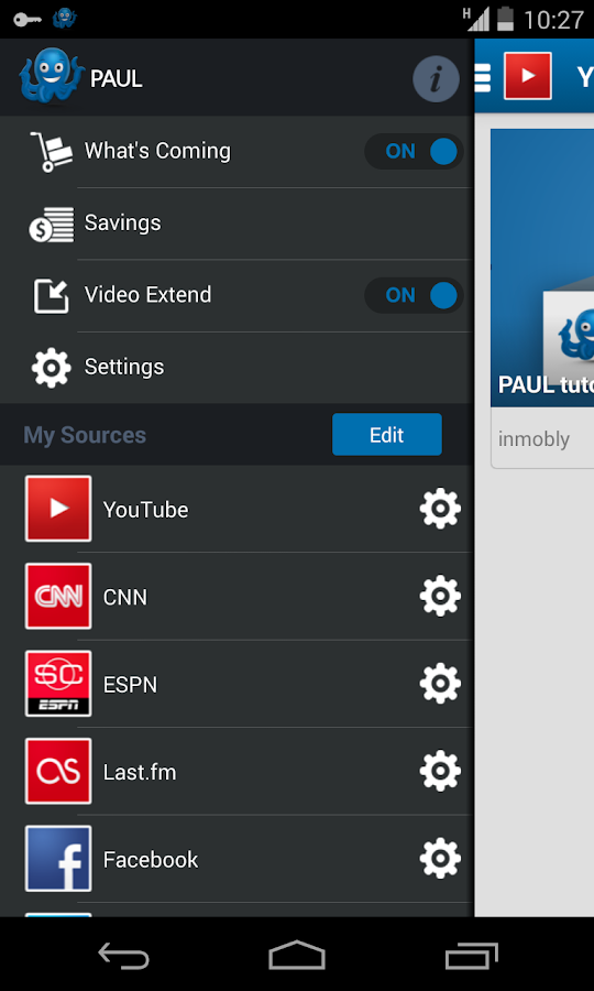 PAUL the app - screenshot