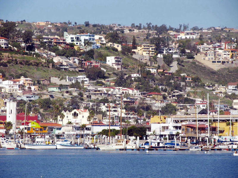 The port in Ensenada on the west coast of Mexico.