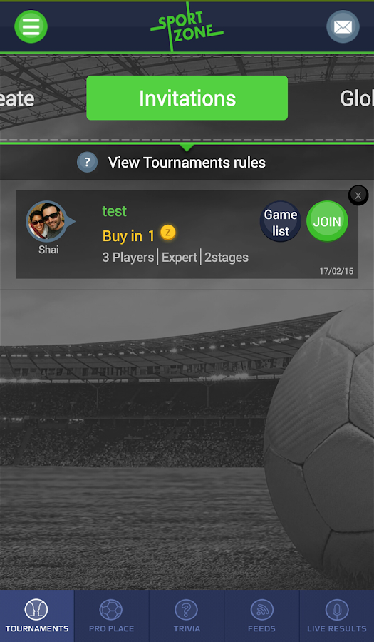 Sport Zone Social Sport- screenshot