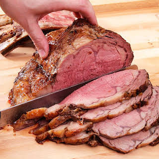 Perfect Prime Rib With Red Wine Jus.