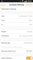Screenshot of ZOOM Cloud Meetings