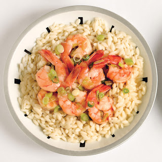 Shrimp Scampi with Green Onions and Orzo