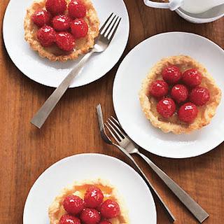 Raspberry-Marzipan Tarts.