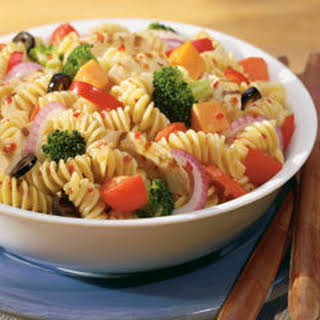 Italian Pasta Salad With Grilled Chicken.