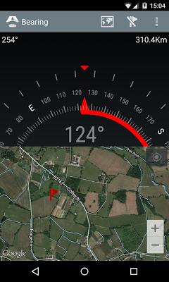 Bearing - Android wear compass - screenshot