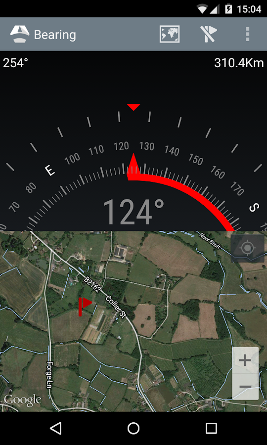 Bearing - Android wear compass- screenshot