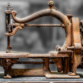 No more sewing by Angelica Glen - Artistic Objects Antiques ( sewing, old, rusty, machine, antique,  )