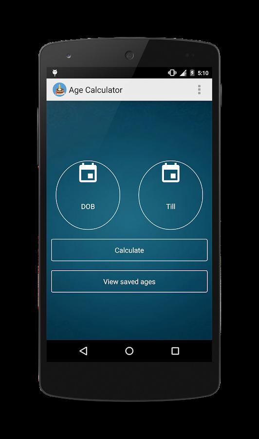 Online age calculator between two dates