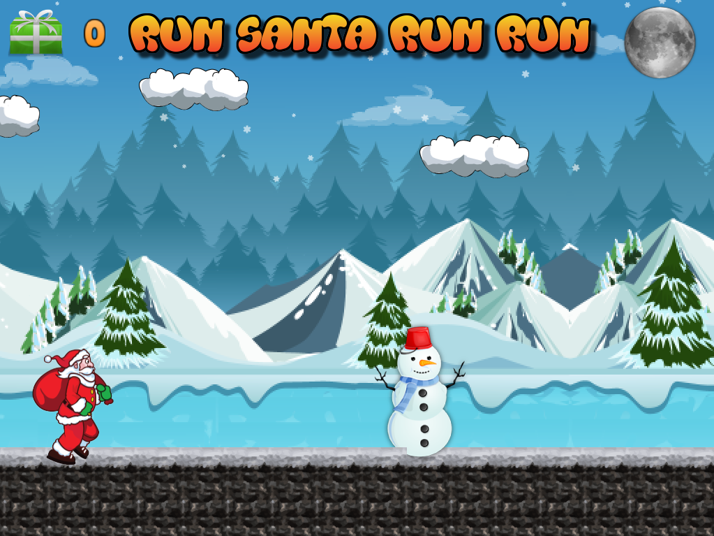 Run Santa run run- screenshot