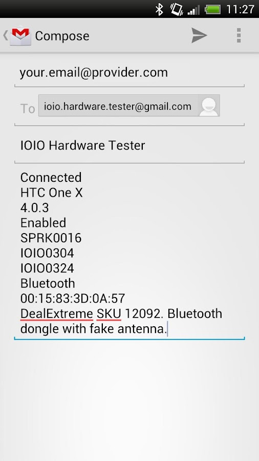 IOIO Hardwarer Tester - screenshot