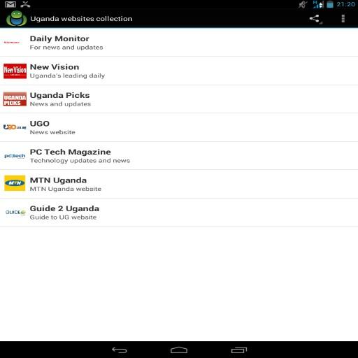 Uganda websites collection LOGO-APP點子