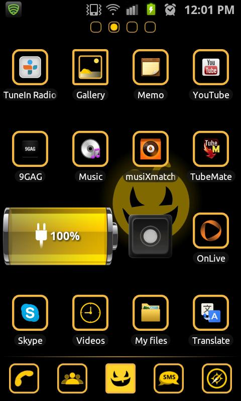 Evil Pumpkin FREE Go Launcher - screenshot