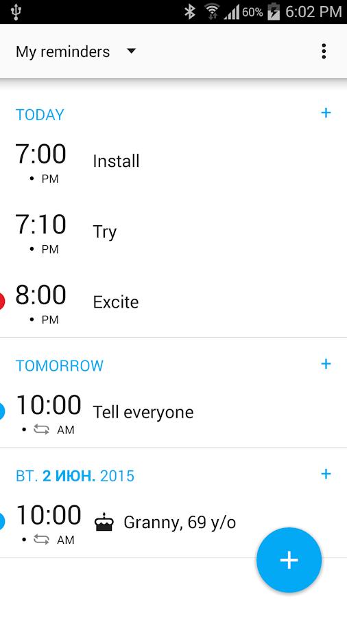 BZ Reminder & Birthdays - screenshot