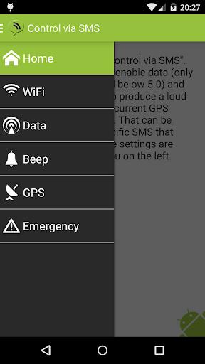 Remote control via SMS