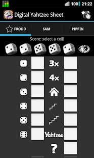 Digital Yahtzee Sheet - screenshot thumbnail
