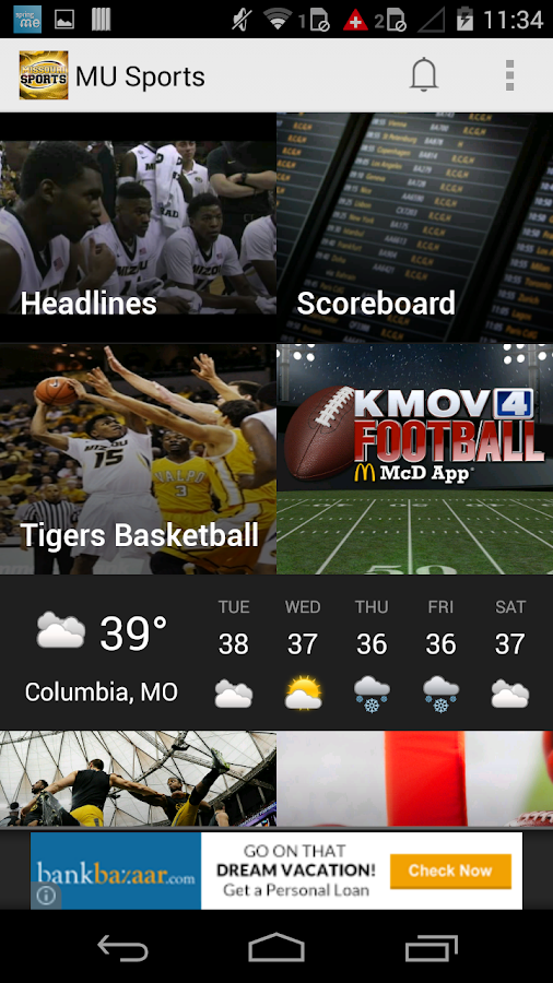 Missouri Sports App- screenshot