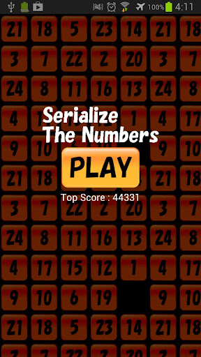 Serialize The Numbers - touch