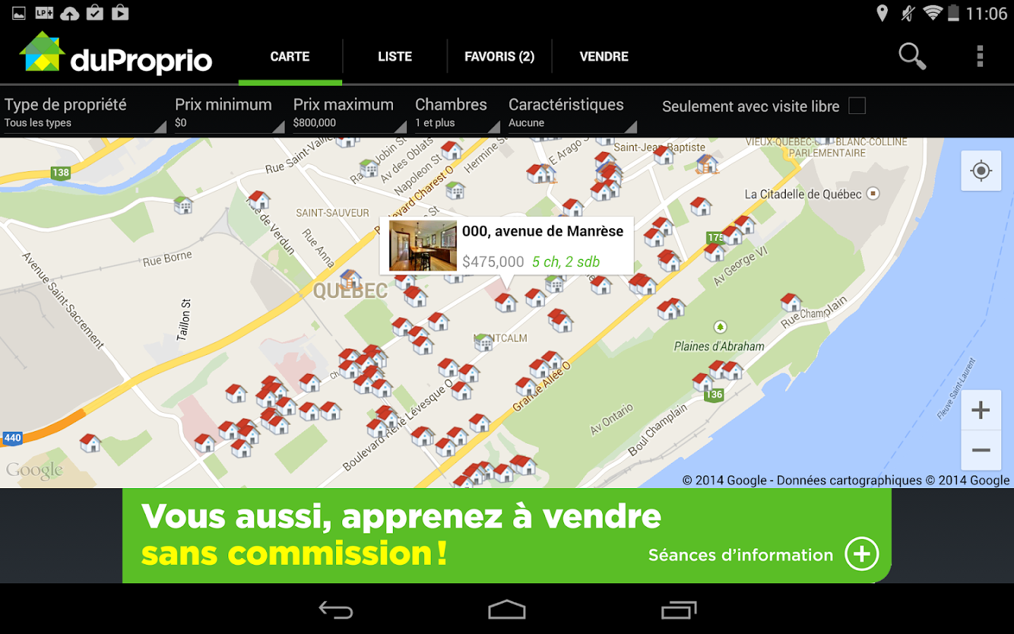 DuProprio Mobile- screenshot