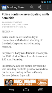 Journal Star, Peoria, Illinois - screenshot thumbnail
