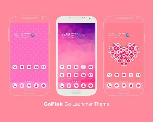 GoPink Free Go Launcher Theme