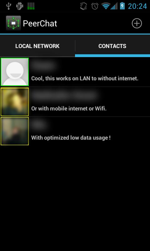 Peerchat SMS Lan - screenshot