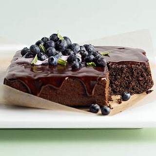 Whole Wheat Chocolate-Blueberry Cake Recipe