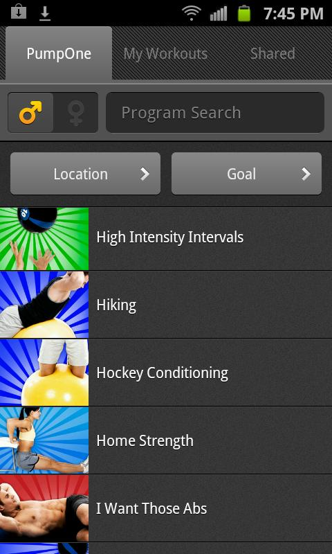 FitnessBuilder - screenshot