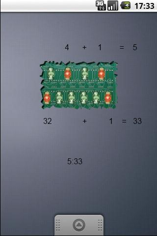 Sp Binary Clock widget- screenshot