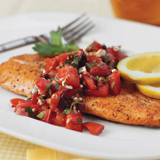 Pan-Seared Trout With Italian-Style Salsa.