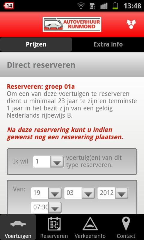 Autoverhuur Rijnmond- screenshot