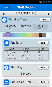 My Wage - Shifts Manager screenshot 2