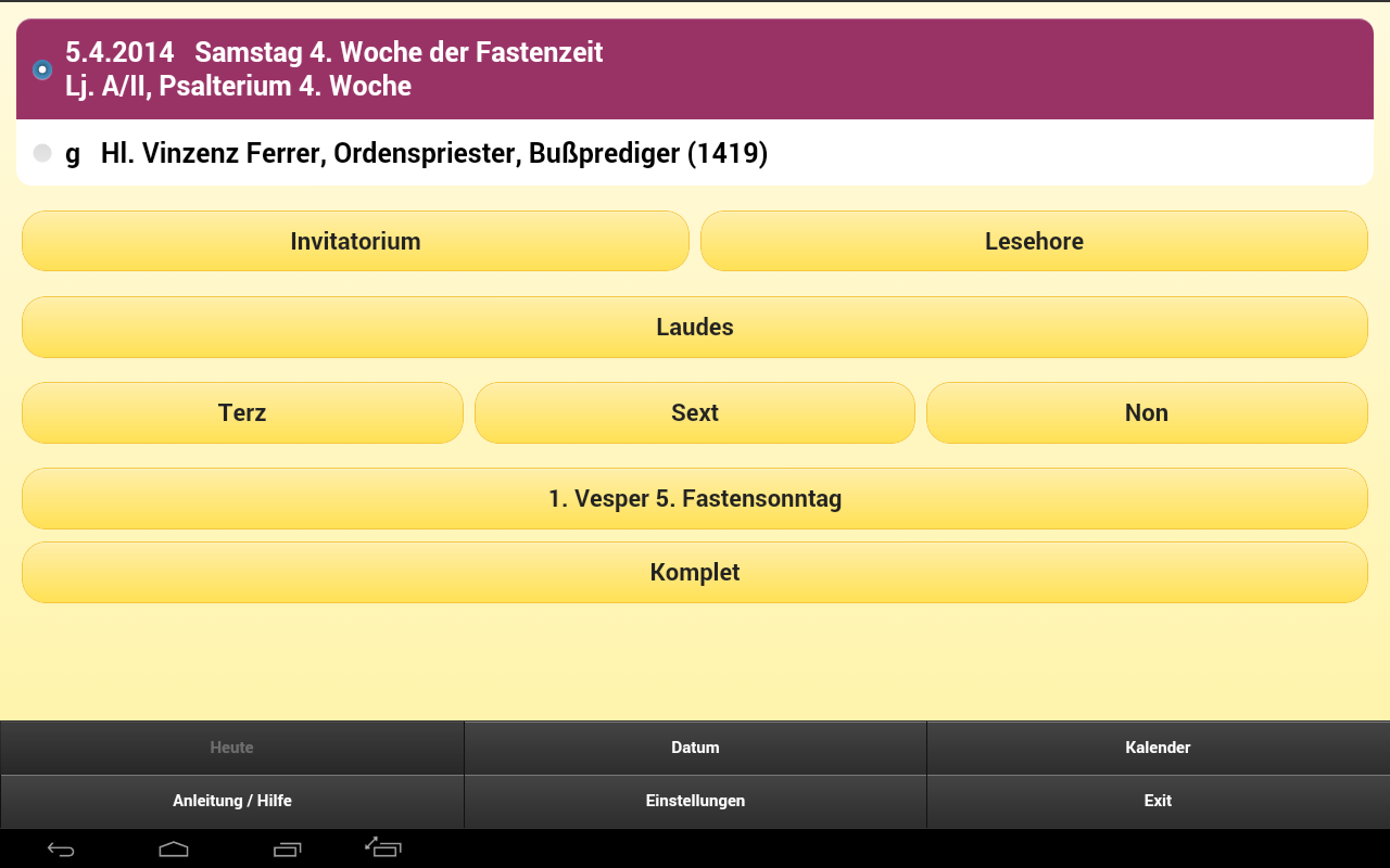 Stundenbuch - Stundengebet – Screenshot