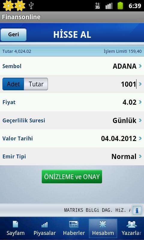 Finansonline- screenshot