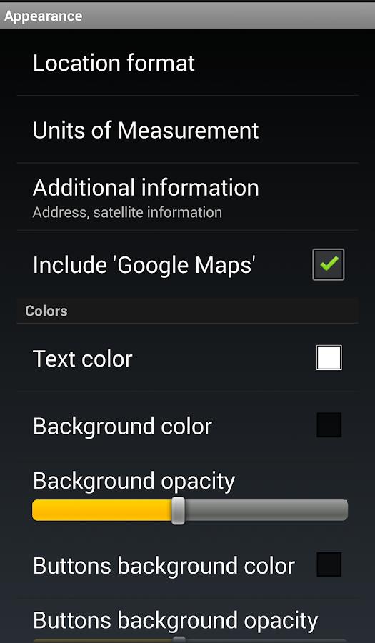 GPS Widget- screenshot