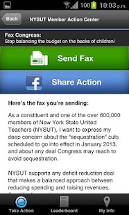 NYSUT Member Action Center - screenshot thumbnail