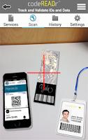 Screenshot of codeREADr – Commercial Scanner