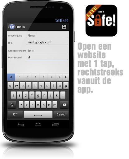 【免費生產應用App】SaveItSafe! Lite wachtwoorden-APP點子